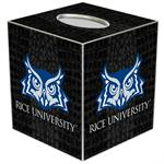 TB4602-Rice University Tissue Box Cover