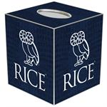 TB4604-Rice University Tissue Box Cover