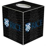 TB4606-Rice University Tissue Box Cover