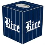 TB4607-Rice University Tissue Box Cover
