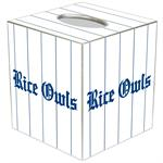 TB4609-Rice University Tissue Box Cover