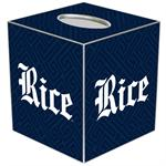 TB4611-Rice University Tissue Box Cover