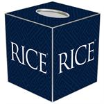 TB4612-Rice University Tissue Box Cover