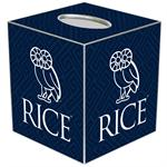 TB4613-Rice University Tissue Box Cover