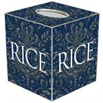 TB4617-Rice University Tissue Box Cover