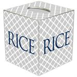 TB4620-Rice University Tissue Box Cover