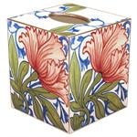 TB559-Delft Tile Poppy Tissue Box Cover
