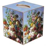 TB561-Spring Bouquet on Blue Backgound Tissue Box Cover