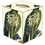 TB563-Lilies with Butterfly Tissue Cover Box
