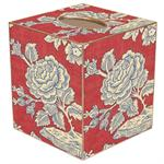 TB565 - Red & Blue Provencial Print Tissue Box Cover