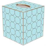 TB585 - Brown & Blue Circles Tissue Box Cover