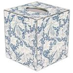 TB658-Wedgewood Blue Floral Tissue Box Cover