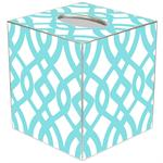 TB8023-Aqua Madsion Tissue Box Cover