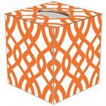 TB8024-Orange Madison Tissue Box Cover