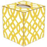TB8026-Yellow Madison Tissue Box Cover
