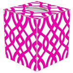 TB8027-Fuschia Madison Tissue Box Cover
