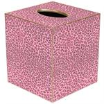 TB803 - Pink Leopard Tissue Box Cover