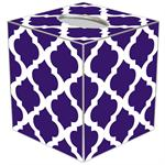 TB8035 - Purple Chelsea Grande Personalized Tissue Box Cover