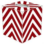 TB8039 - Red Chevron Grande Personalized Tissue Box Cover