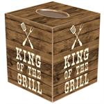 TB8272-King of the Grill Tissue Box Cover