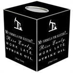TB8278-My Formula for Success Tissue Box Cover