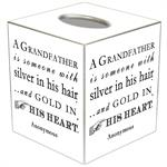 TB8340-A Grandfather is Someone with Silver in the Hair Tissue Box Cover