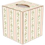 TB839 - Dainty Rose Stripe Tissue Box Cover
