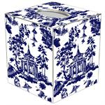 TB8392 - Chinoiserie Pagoda in Blue Tissue Box Cover