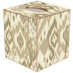TB8415 - Tan Ikat Tissue Box Cover