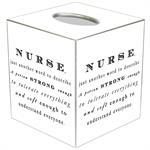 TB8489-Nurse Just Another Word to Describe Someone Tissue Box Cover