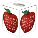 TB8550-A Teacher Takes A Hand Tissue Box Cover