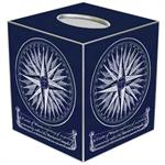 TB8587- Mariner's Compass Blueprint Tissue Box