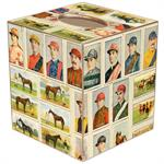 TB8589-Jockey and Racing Horses Tissue Box side 1 and 2