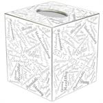 TB8616 - Word Collage Script Fonts Tissue Box Cover
