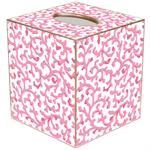 TB871 - Pink Waverly Scroll Tissue Box Cover