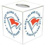 Block Island Club Tissue Box Cover