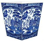WB1386-Blue Willow Wastepaper Basket