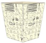 WB1388-Geometry Wastepaper Basket