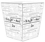 WB1390-Quadratic Equation Algebra Wastepaper Basket