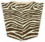 WB1448- Brown & Creme Zebra Wastepaper Basket