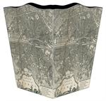 WB1481-Paris Antique Map Wastepaper Basket
