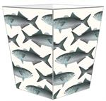 WB1521-Blue Fish Wastepaper Basket