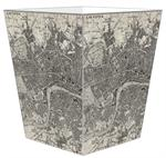 WB1574 - Antique London Map Wastepaper Basket