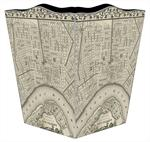 WB1589 Antique New Orleans Map Wastepaper Basket