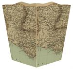 WB1718 - Louisiana Coast Antique Map Wastepaper Basket