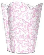 WB1759-Pink Bunny Toile Wastepaper basket