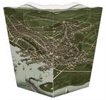 WB1769 - Antique Nantucket Town Map Wastepaper Basket