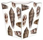 WB1847 - Brown Island Shells Wastepaper Basket