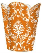 WB2532 - Orange Damask Wastepaper Basket