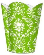 WB2533 - Lime Damask Wastepaper Basket